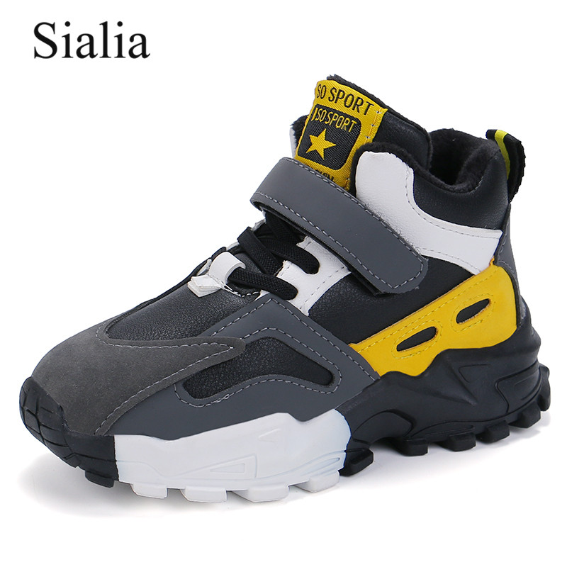 Sialia Winter Children Casual Shoes For Kids Sneakers Boys Shoes Girls Sneakers Running Plush Lining Warm Sapato Infantil 2020