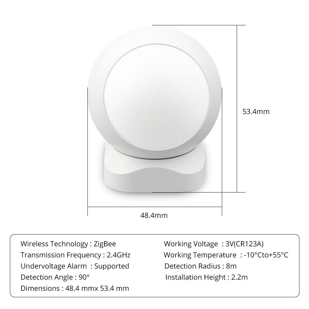 Image 5 - Zemismart Tuya Zigbee PIR podczerwieni wykrywanie ruchu PIR inteligentny czujnik bezprzewodowy Alarm bezpieczeństwa system detektorówInteligentny pilot zdalnego sterowaniaElektronika użytkowa -