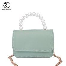 RARE CREATIVE Mini Solid Fashion Women Bag Leather Handbag For Girl PU Shoulder Bag Small Flap Crossbody Bag Casual Purse PS8015