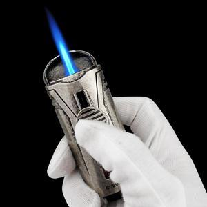 Guevara Mini encendedor de cigarros de bolsillo de Metal a prueba de viento llama azul azabache encendedores de cigarrillos con caja de regalo