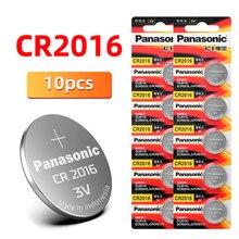 Оригинальный PANASONIC 10 шт./лот cr2016 BR2016 DL2016 LM2016 KCR2016 ECR2016 кнопочные батареи 3 в монета литиевый диктофон