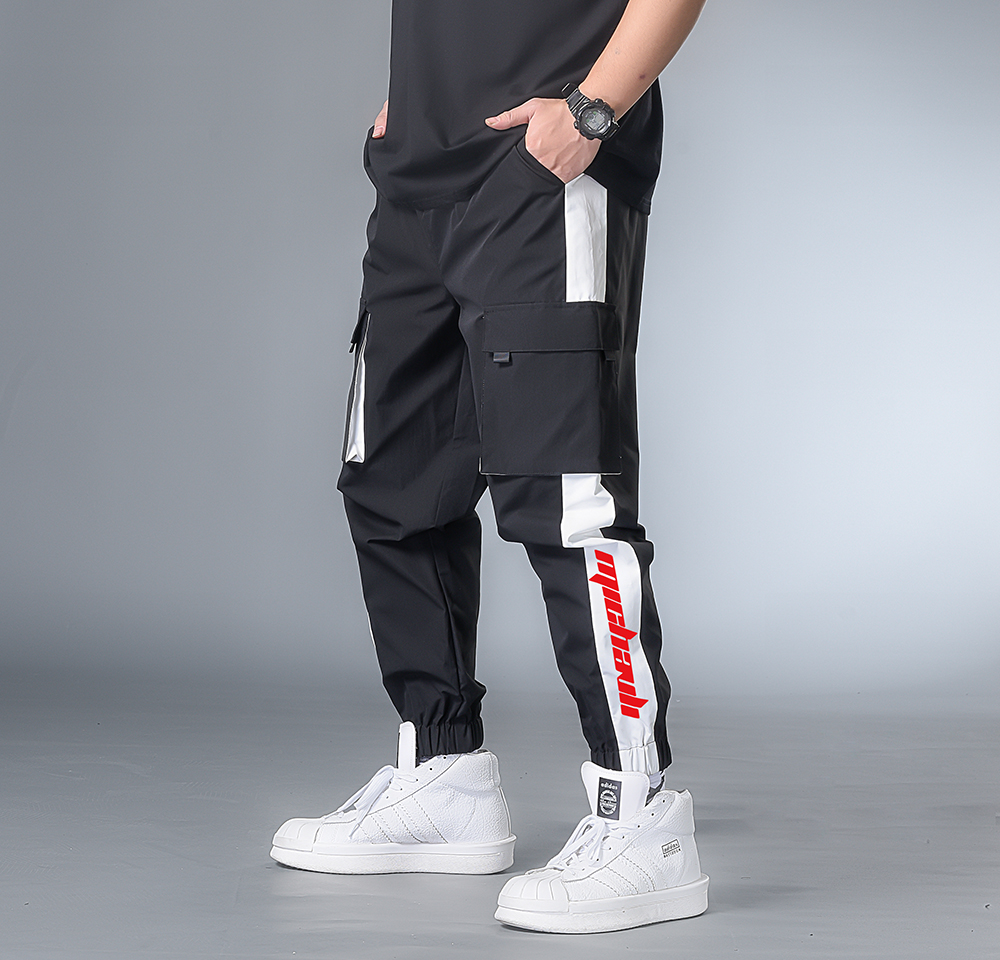 7XL 6XL XXXXL Cargo Pants Men 2020 Mens Streetwear Joggers Pants Male Hip Hop Pockets Sweatpants  Black Clothing