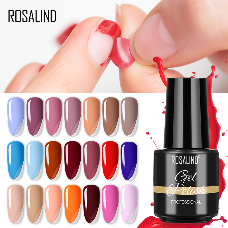 Гель-лак ROSALIND для ногтей, съемный Гель-лак для нейл-арта, для маникюра, гибридные Лаки, легко снимаются, «сделай сам», УФ-Гель-лак для ногтей