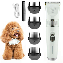 цена на USB Rechargeable Pet Dog Cat Clippers Animal Grooming Hair Trimmer Kit Electric Shaver Quiet Hair cutter Clipper Dog Products