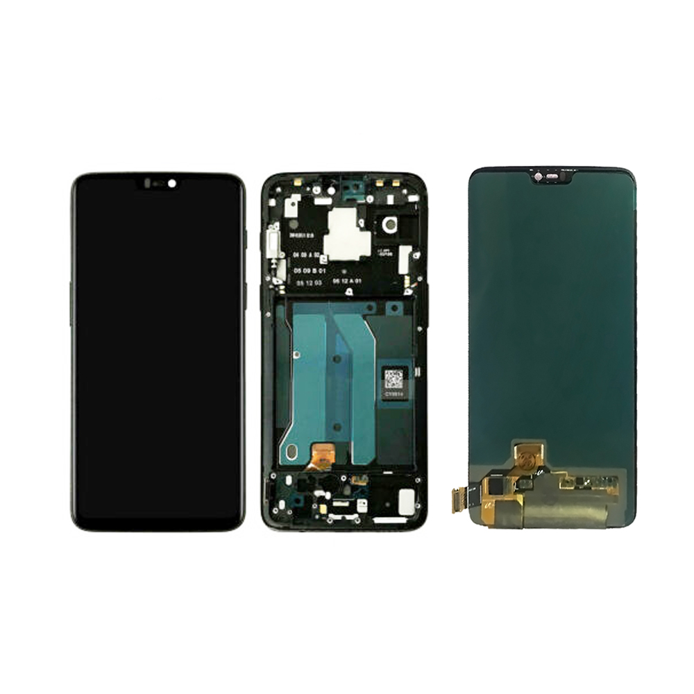 100% Test For OnePlus 6 1+6 A6000 A6003 LCD Display Touch Screen Assembly With Frame Free Tools
