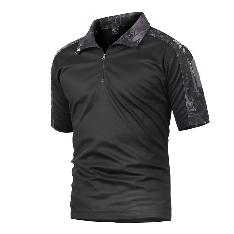 Schönen Sommer Taktische Camouflage T Shirt Männer Schnell Trocken Military Uniform T Shirt Atmungsaktiv Wicking Armee Kampf T Shirts - 2