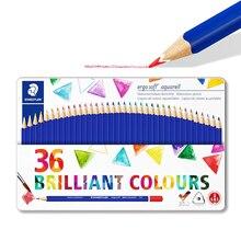 Staedtler ergosoft 156 M36 Watercolour Colouring Pencils Water-Soluable Increased Break Resistance Triangular Set of 36 Bril