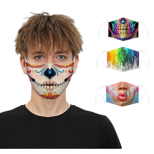 fashion creative Masque reusable masks unisex party sports safe  breathable  Filter Bacteria Proof Flu Anti Dust Mouth Muffle