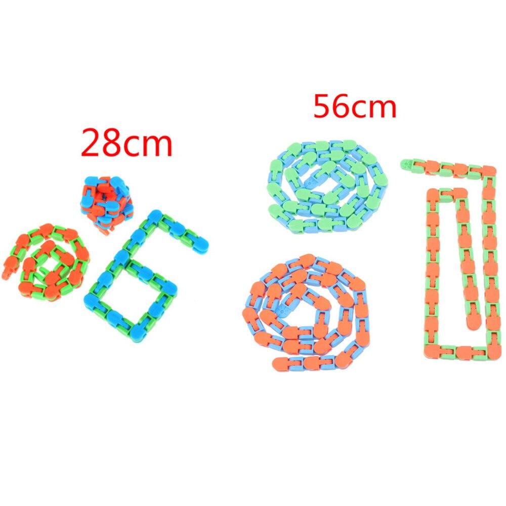 Sensory Toy Fidget-Toys Puzzles Autism Wacky Tracks Snake Kids Snap Classic 1pc Click