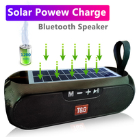 Bluetooth Speaker Portable Column Wireless 3D Stereo Music Box Solar Power Bank Boom box MP3 Loudspeaker Outdoor Speaker 1