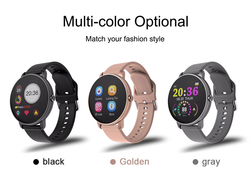 H9c4017f81604496dbbbd874e76eb8094O 2020 Full Touch Smart Watch Heart Rate Fiteness Tracker Blood Pressure