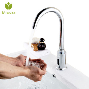 Image 3 - Sink Faucets Automatic Infrared Sensor Faucet Deck Mount Smart Touch Free Single Cold Inductive Water Tap for Kitchen Bathroom