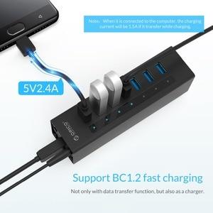 Image 4 - ORICO 7 Cổng USB 3.0 Hỗ Trợ BC1.2 Sạc Với Nguồn 12V Nhôm Bộ Chia USB Cho Phụ Kiện Macbook máy Tính Để Bàn OTG