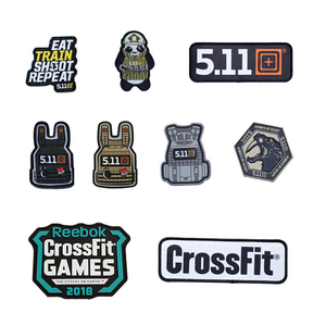 CrossFit Vader's Fist Military PVC Tactical Morale Patch Badges Emblem Applique Iron On Patches For Clothes Backpack Accessories(China)