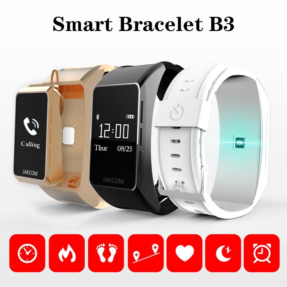 B3 Bracelet intelligent moniteur de fréquence cardiaque podomètre montre pour Xiomi Bracelet Talkband Bracelet intelligent passomètre cadran appel