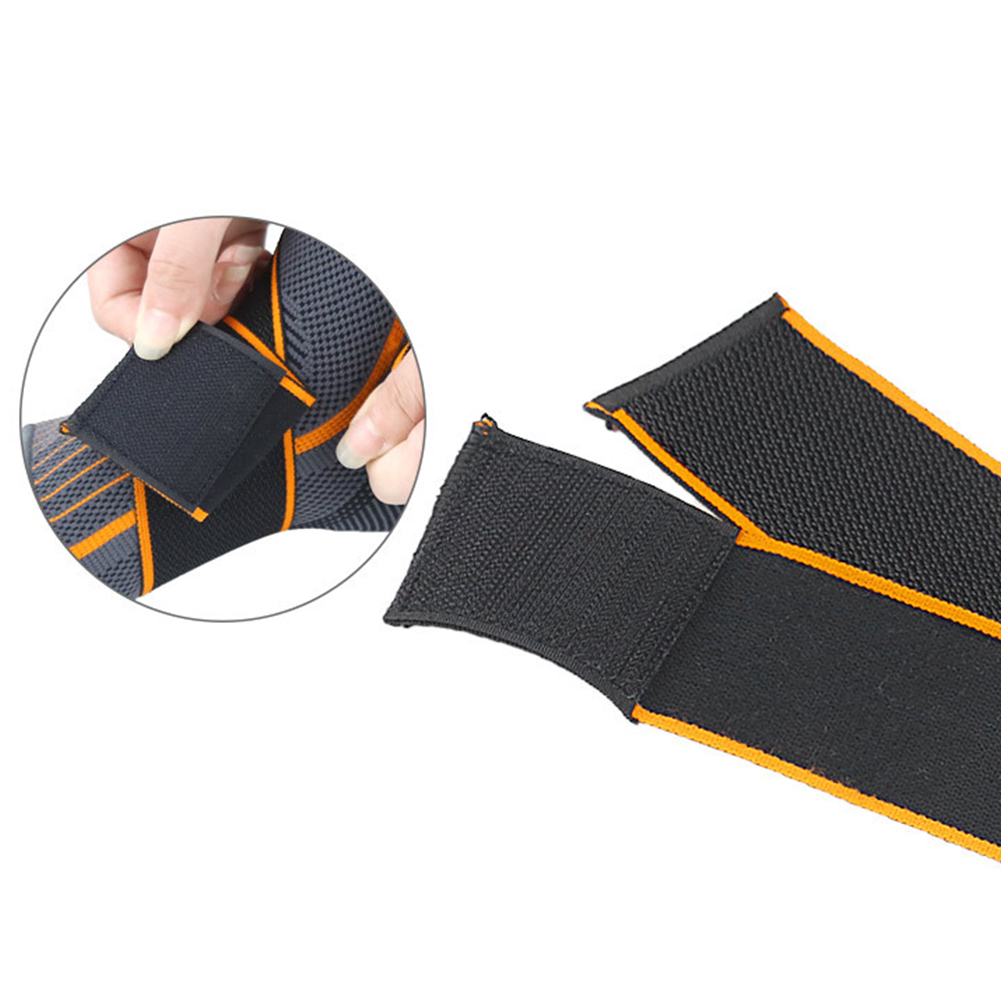 1pc Striped Ankle Support Nylon Gym Running Brace Sprain Prevention Elastic Basketball Magic Sticker Warm Strap Sports Protector