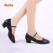 Купить с кэшбэком New Dancing Shoes For Women Soft Sole Latin Dance Shoes Ballroom/Outdoor Ladies Practice Dancing Shoes Middle Heel Female Shoes