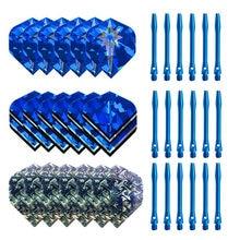 2021 hot sale 35mm aluminum dart shaft and blue dart flying dart accessory set