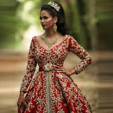 Мусульманское свадебное платье с шалью комплект из двух предметов