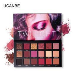 UCANBE палитра теней для век 18 цветов, матовые мерцающие блестящие натуральные тени для век, долговечная косметическая пудра для макияжа TSLM 1