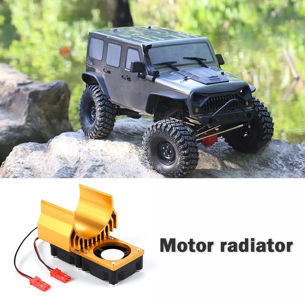Durable <font><b>Motor</b></font> Radiator Delicate Design RC Car 1:10 Tram <font><b>540</b></font> 550 <font><b>Motor</b></font> with <font><b>Fans</b></font> Radiator Heat Sink for HSP REDCAT AXAIL image