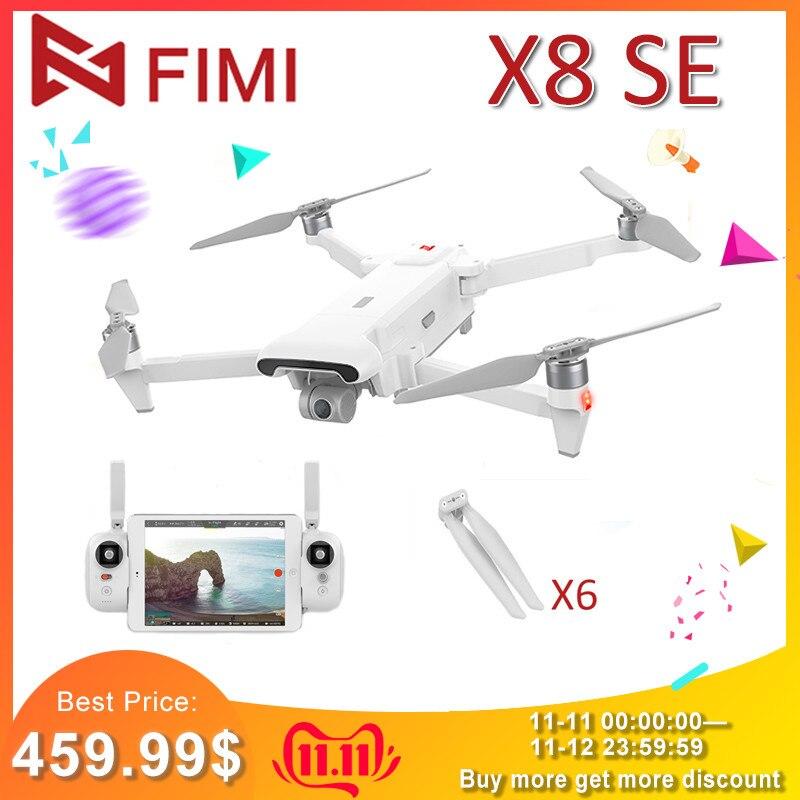 Nouveauté d'origine FIMI X8 SE caméra Drone 5KM FPV 3 axes cardan HD4K caméra GPS 33 minutes temps de vol RC Drone quadrirotor RTF