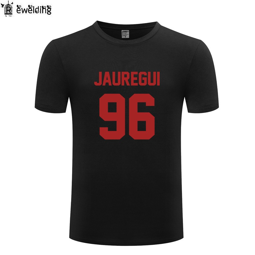 <font><b>Lauren</b></font> Jauregui 96 Men T Shirt Hip Hop T Shirts Men Fifth Harmony 5H Funny Cotton Short Sleeve Man Tops Tees Tshirt Streetwear image