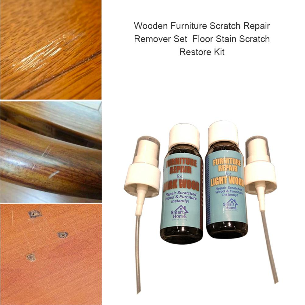 Wooden Furniture Scratch Repair Remover Set Floor Stain Scratch Restore Kit Two Bottles Of Liquid 40ml