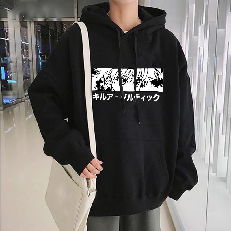 Le Jeune moderne.Sweat Japonais-Sweat à capuche Japonais Killua Eyes HxH pour femmes ou hommes-Sweat à capuche Japonais Killua Eyes HxH pour femmes ou hommes