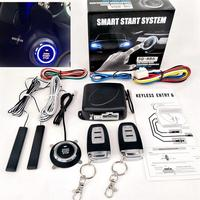 Auto Car Accessories 9Pcs/Set Car SUV Keyless Entry Engine Start Alarm System Push Remote Starter Stop Button