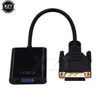 Adaptador/convertidor de vídeo DVI macho a VGA hembra, 24 + 1 cable de 25 pines a 15 pines para HDTV TV, PS3, PS4, pantalla de Monitor para PC, 1080P