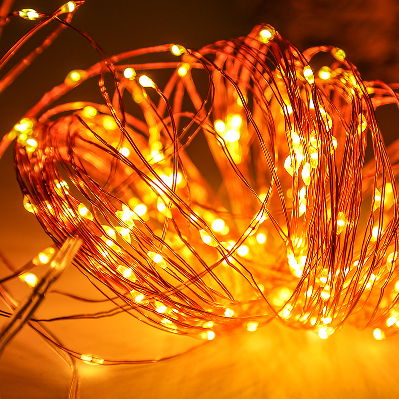 1M 2M 3M 5M 10M Outdoor LED String Lights Holiday New Year Fairy Garland For Christmas Tree Wedding Party Decoration By USB 10m