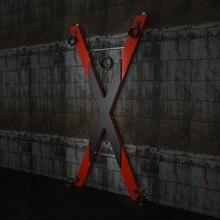 SM Saint Andrew Croce Del Sesso Mobili Posizione Prop Giocattolo Erotico Sedia Torture Dungeon Gioco di Ruolo BDSM Gioco Del Sesso X  forma di Croce