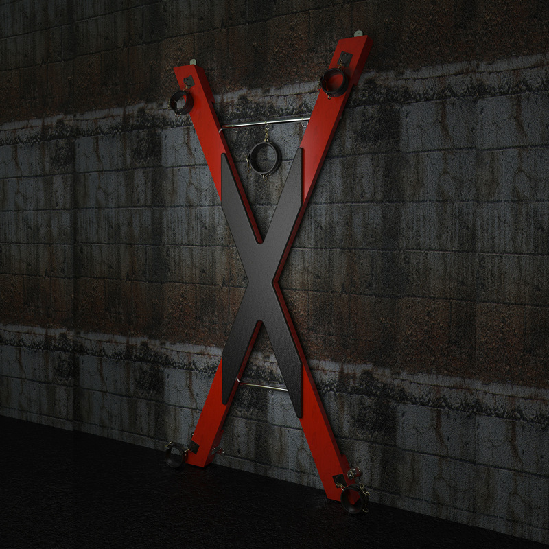SM Saint Andrew Cross Sex Furniture Position Prop Erotic Toy Chair Torture Dungeon Role Play BDSM Sex Game X-shape Cross