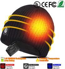 救世主加熱された帽子バッテリー加熱されたビーニー帽子電動充電式暖かい冬加熱されたフリースキャップバラクラバ