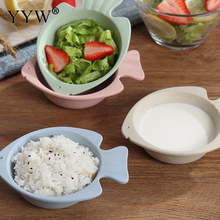 1pcs Creative Fish Shape Bowl Dishes Children Feeding Snack Plate Lunch Box Kid Baby Tableware Dinnerware Set For