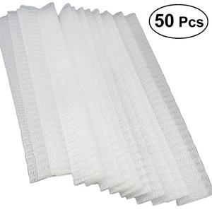 Image 5 - Makyaj fırçaları Net koruyucu Guard elastik örgü güzellik makyaj kozmetik fırça kalem kapağı siyah beyaz 50 adet/100 adet