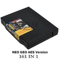 New For SNK NEO GEO AES Retro Classic 161 in 1 JAMMA Multi Games Cartridge, SNK AES With Case As Gift Console Parts