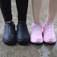 2020 primavera moda capa de sapato reutilizável à prova dwaterproof água zíper capa sapatos homem/mulher sapatos de chuva cobre à prova dwaterproof água