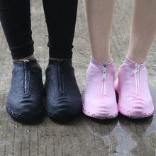2020 wiosna moda wielokrotnego użytku pokrowiec na buty wodoodporna osłona na suwak buty mężczyźni kobiety kalosze pokrowce wodoodporne tanie tanio Lorilury Buty covers Poliester Stałe MW-05 Waterproof