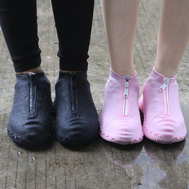 2020春のファッション再利用可能な靴カバー防水ジッパーカバー靴男性/女性雨靴カバー防水
