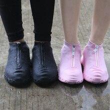 Cubierta de zapato reutilizable para hombre y mujer, cubierta impermeable con cremallera, zapatos de mujer para la lluvia, impermeable, 2020