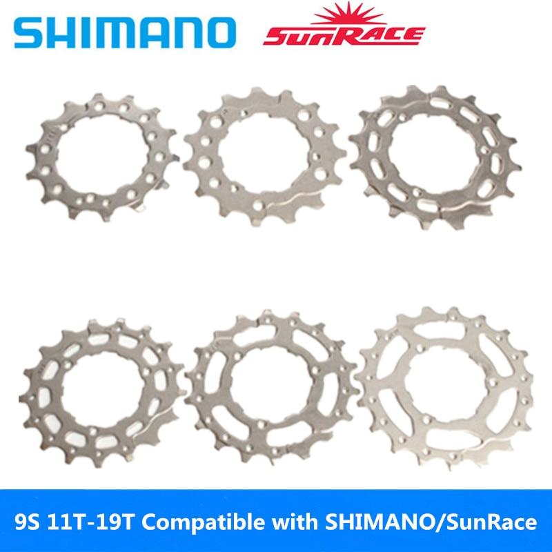 Кассета маховика для горного велосипеда высокого качества 9S 11T-19T полный диапазон маховика запасные части совместимы с SHIMANO / SRAM / Sun