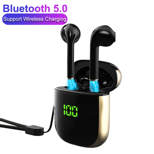 Беспроводные наушники со сканером отпечатков пальцев, сенсорные наушники Bluetooth 5,0, басовые стереонаушники, спортивные водонепроницаемые на...