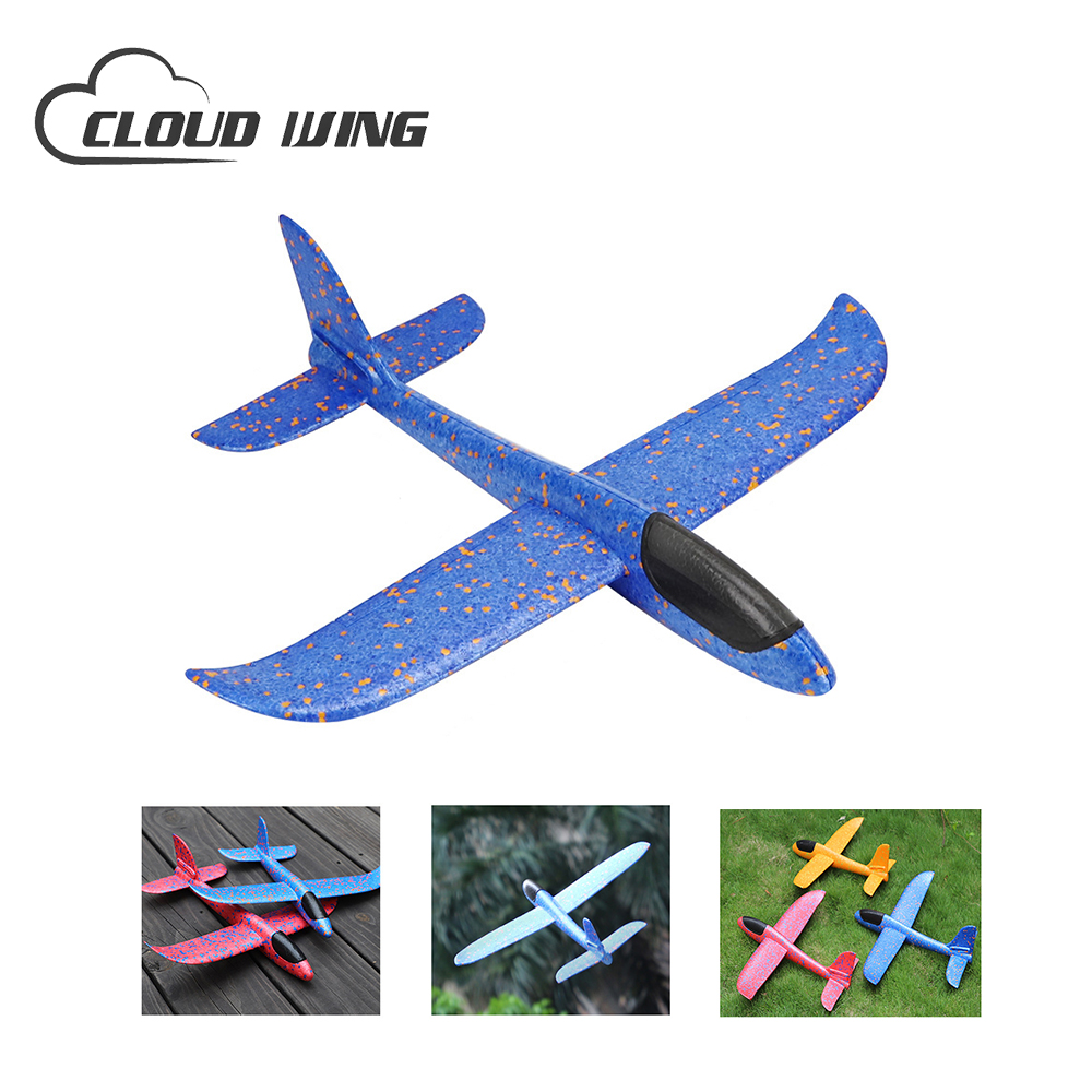 1pc DIY Hand Throw Flying Glider Planes Toys For Children Foam Airplane Model Party Bag Fillers Toys For Kids Outdoor Game