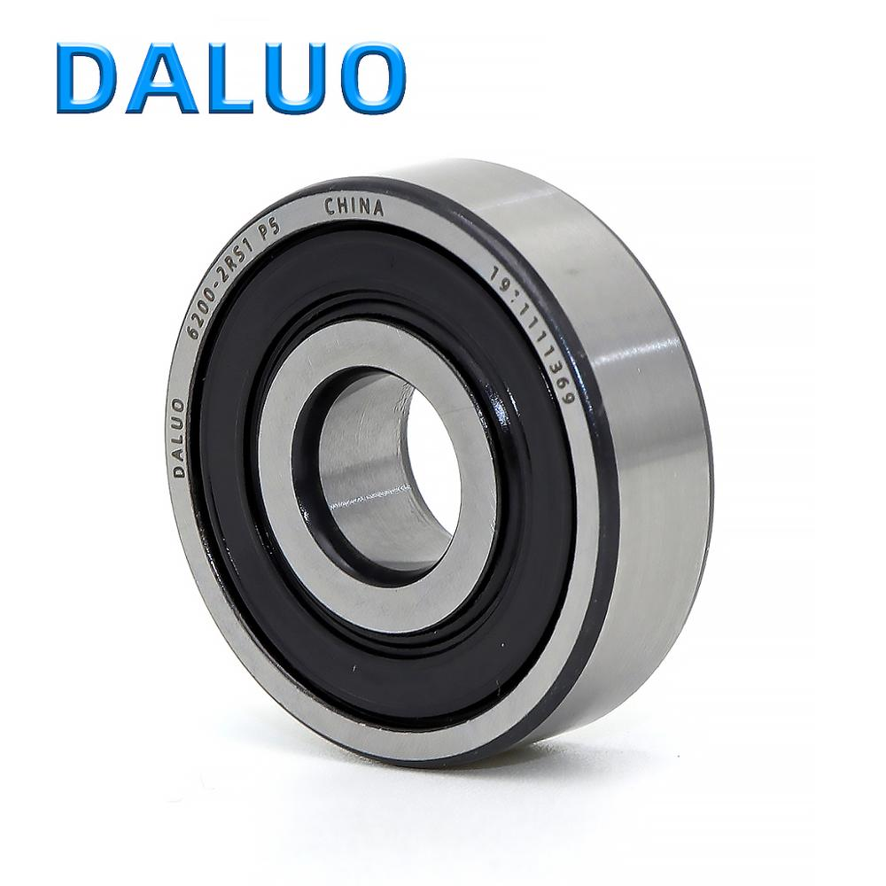 1PCS 6200-2RS1 P5 10X30X9 DALUO Bearing 6200 <font><b>6200RS</b></font> 6200-2RS ABEC-5 Single Row Deep Groove Ball Bearings Metric image