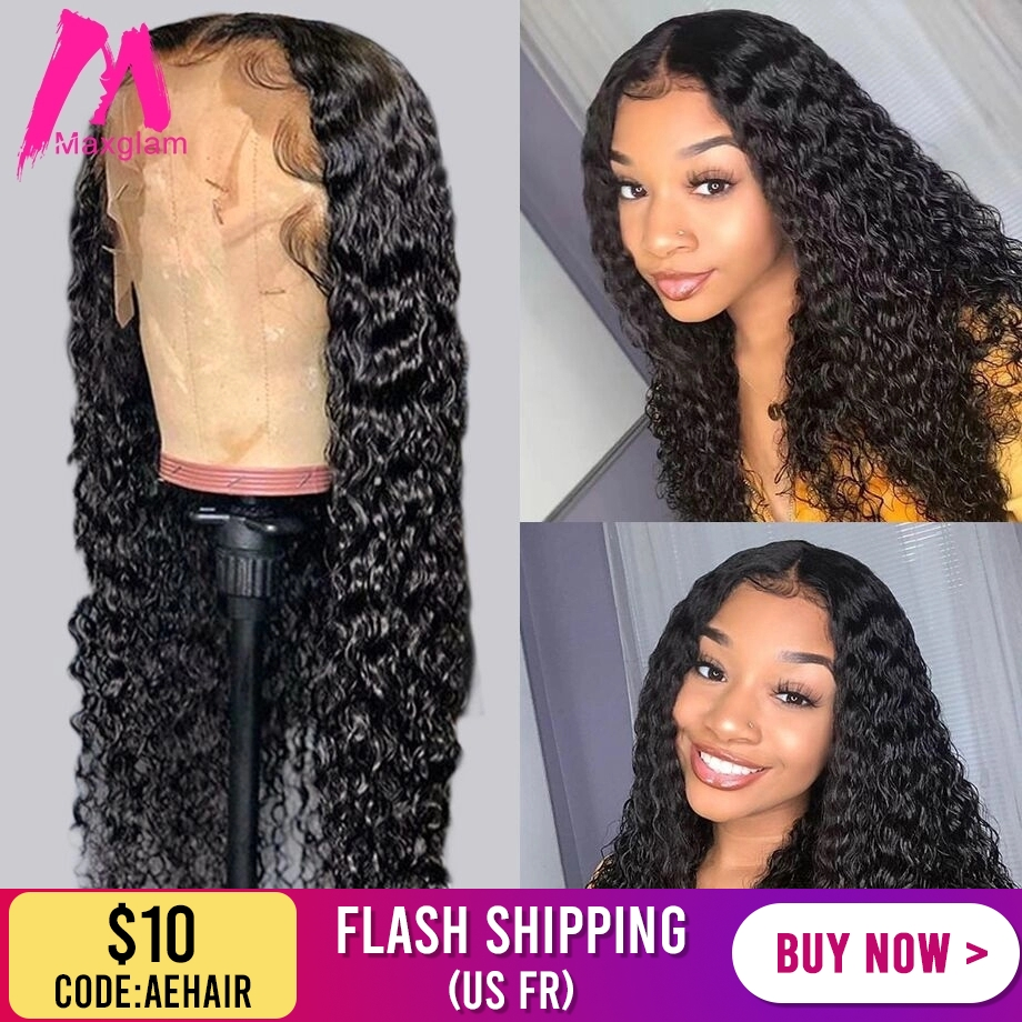 Lace Front Human Hair Wigs Water Wave Brazilian Short Frontal Curly Wig For Black Women Natural Pre Plucked 30 Inch Long Deep Hd