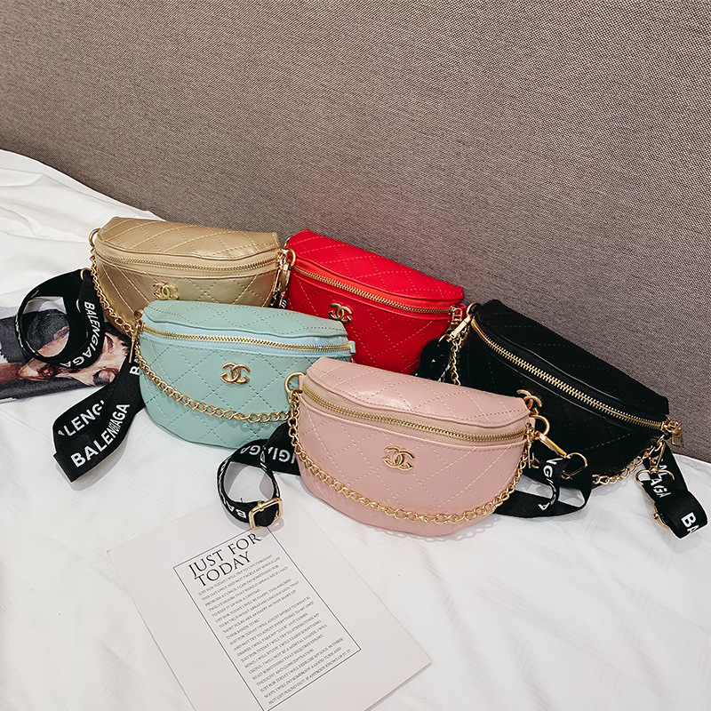 2019 Spring And Summer New Style Children's Bags Korean-style Graceful Rhombus Chain Bag Men And Women Children Small Pockets Ch