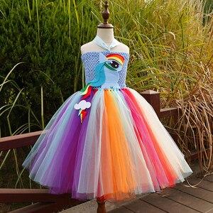 Платье-пачка для девочек; Костюм Пони для маленьких девочек на День рождения; Вечерние платья на Хэллоуин; Классический костюм для девочек; ...