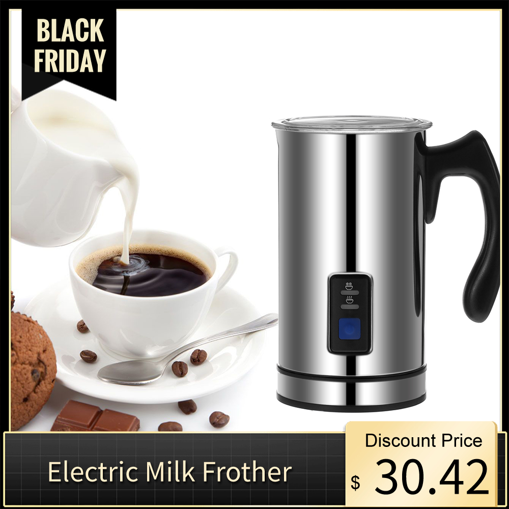 Electric Milk Frother Foamer Frothing Milk Warmer Latte Capp…